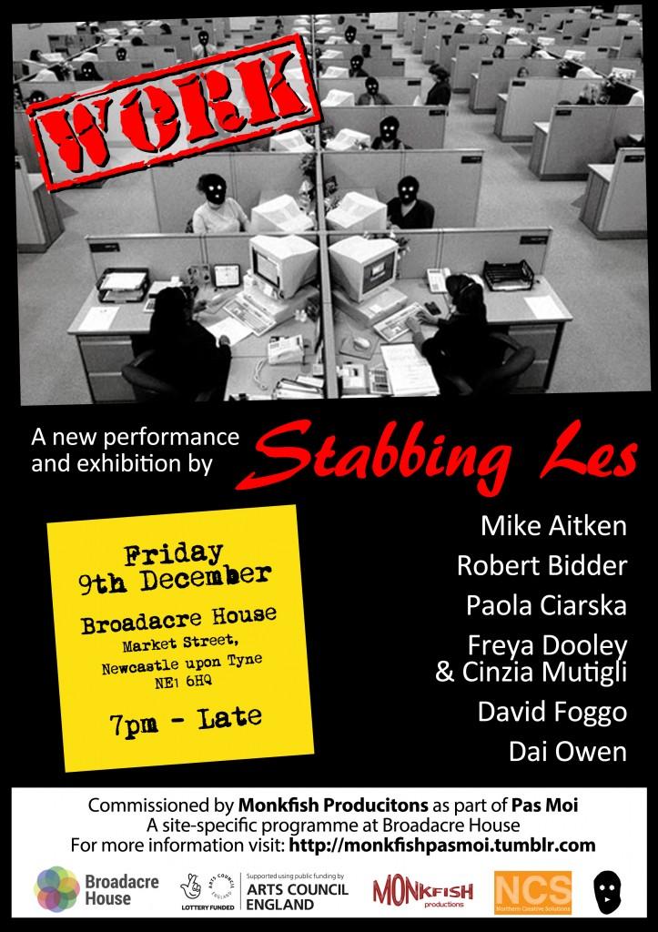 Stabbing Les Work Poster